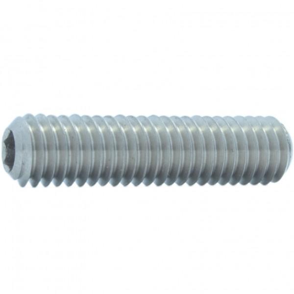 DIN 913/ISO 4026 Gewindestift Feingewinde mit Innensechskant und Kegelkuppe Stahl verzinkt 45H
