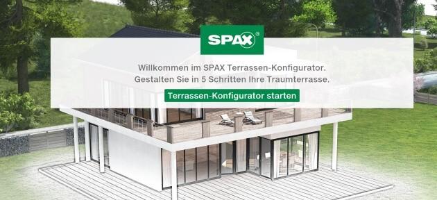 Spax Terrassen-Konfigurator Start - Mobile Portait