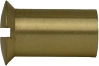 Hülsenmutter Linsensenkkopf mit Schlitz Messing M6 x 15 mm 100 Stück