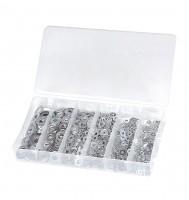 Beilagscheiben-Sortiment, 900 tlg., M3-M10, Stahl, vz, BOX-B900