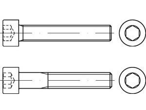 DIN 912/ISO 4762 Zylinderschraube Feingewinde Stahl 12.9 blank