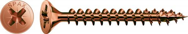 Spax Universalschraube, Vollgewinde, Senkkopf, Kreuzschlitz Z, Brüniert