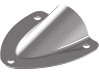 Mini-Lenzer / Wasserabweiser / Lüfterblenden, Edelstahl A4 Typ A - 45X43X0,8 mm - 10 Stück