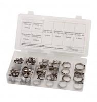 1-Ohr-Klemmen-Sortiment, 90 tlg., Edelstahl, BOX-OK90