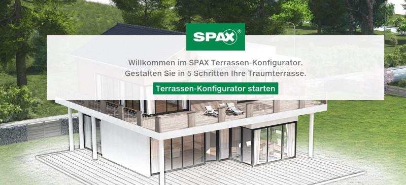 Spax Terrassen-Konfigurator Start