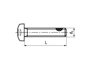 ISO 14583 Linsenschraube, TufLok® Fleck beschichtet, Innensechsrund, Edelstahl A2