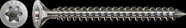 Spax Edelstahlschraube A4, Vollgewinde, Senkkopf, Ø 10 & 12 mm, T-STAR plus, Edelstahl A4