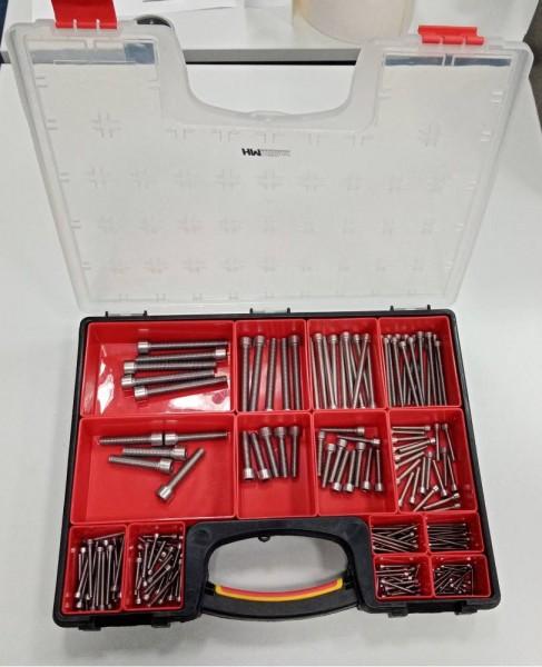Sortiments-Box DIN 912 Vollgewinde Edelstahl A2 Zylinderschraube mit Innensechskant
