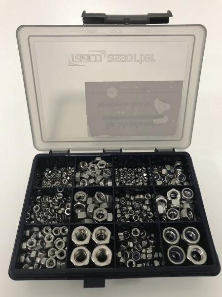 Sortiments-Box 5 Muttern DIN 934 & DIN 985 Edelstahl A2