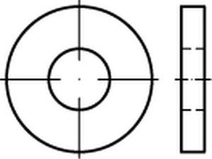 DIN 7349 Unterlegscheibe Edelstahl A2 Scheibe für Schrauben mit schweren Spannstiften
