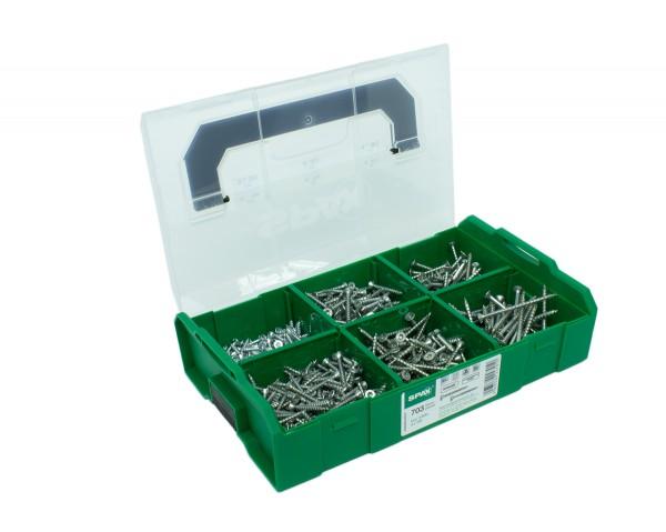 Spax Montagekoffer L-BOXX mini, Schraubenset 6 Abmessungen WIROX