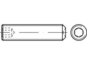 DIN 916/ISO 4029 Gewindestift Edelstahl A2 mit Innensechskant und Ringschneide