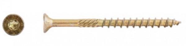 Holzbauschraube 8x260, Senkkopf, Teilgewinde, gelb verzinkt, TORX