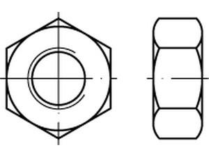 DIN 934/ISO 4032 Sechskantmutter Messing