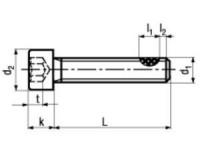 DIN 912/ISO 4762 Zylinderschraube, TufLok® Fleck beschichtet, Edelstahl A2