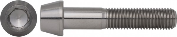 DIN 912/ISO 4762 Zylinderschraube Feingewinde Titan Grade 5 konischer Kopf