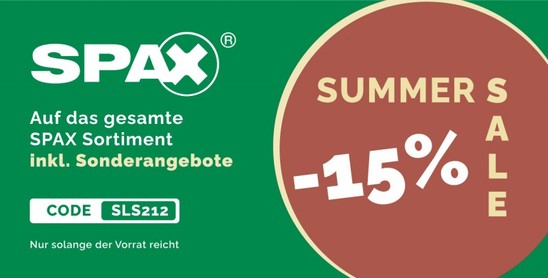 SPAX Sommer Sale 212