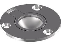 Bodenheber / Einlassgriffe, rund, Feinguss poliert, Ø 50 mm, Edelstahl A4