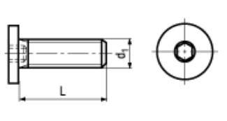 Zylinderschraube, Innensechskant, extrem niedriger Kopf, 10.9 schwarz, BN1206