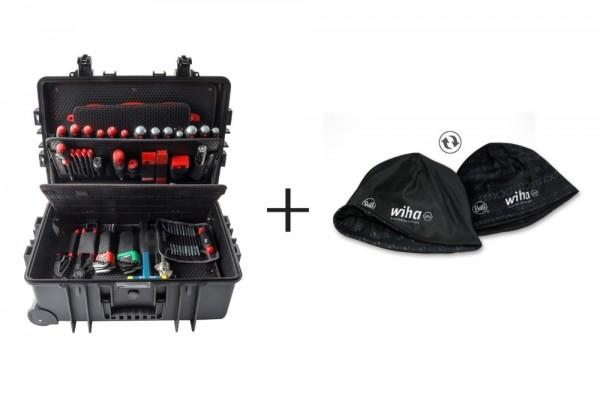 wiha Werkzeug Set Industrial XXL 102tlg. im Koffer + gratis wiha Wendemütze