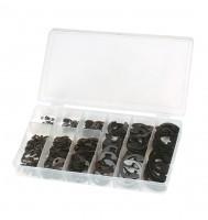 Sicherungsscheiben-Sortiment f. Wellen mit Nut, 300 tlg., BOX-SS300