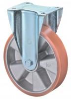 Schwerlastrolle / Bockrolle, Aluminiumrad, Kugellager, Platte 200 mm