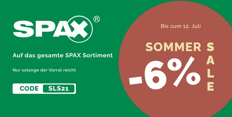 SPAX Sommer SALE 2021