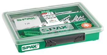 SPAX Sortiment klein - Schrauben-Set mit 4 Abmessungen + Dübel - 4000001991179