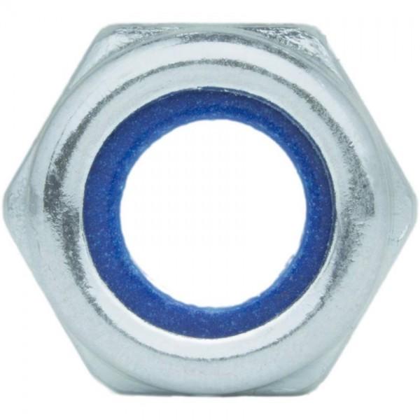 DIN 985/ISO 10511 Sechskantmutter verzinkt selbstsichernd niedrige Form
