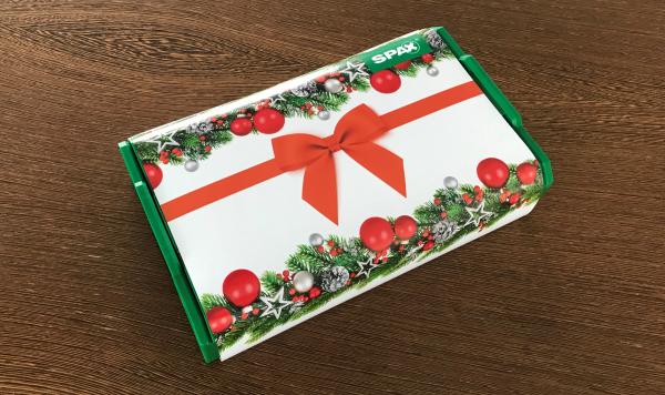 Spax Montagekoffer L-BOXX mini, Schraubenset 6 Abmessungen WIROX mit attraktiver Weihnachtsbanderole