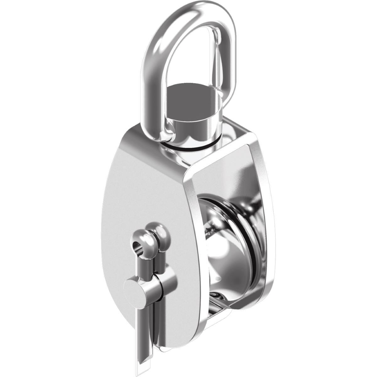 Mini-Block mit Bügel und Nylon-Rolle Ø Rolle 25mm A2-AISI304 Rille 6mm