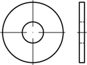 DIN 9021/ISO 7093 Scheibe gr. Aussendurchmesser Edelstahl A4