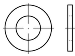 1000 Unterlegscheiben DIN 125 Messing Form A 3,2 Ø M3