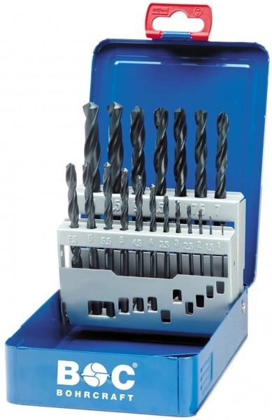 Bohrcraft Spiralbohrer HSS-R DIN 338 19 teilig in Industriekassette