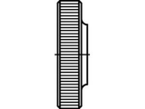 Rändelmutter niedrige Form ähnl. DIN 467 Titan Grade 5