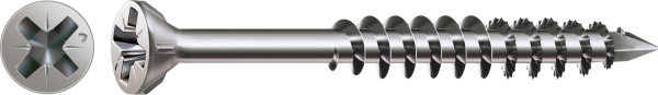 Spax Glasleistenschraube, Ø 3,5 mm, Edelstahl A2, Senkkopf, Teilgewinde, Kreuzschlitz Z, CUT-Spitze