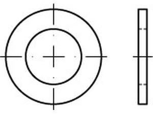 DIN 433/ISO 7092 Scheibe f. Zylinderschraube Edelstahl A2