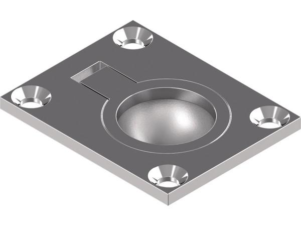 Einlassgriffe / Bodenheber, Feinguss, poliert 48 X 38 X 12 mm, Edelstahl A4