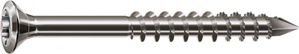 Spax Fassadenschraube A2, Ø 4 mm, Linsensenkkopf klein, Teilgewinde, T-STAR plus T15, CUT-Spitz