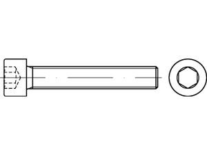 DIN 912 // ISO 4762 PROFI Zylinder Innensechskant Schraube Teilgewinde G/üte 8.8 verzinkt Stahl geh/ärtet DIN912 PROFI ZYL INB6kt TGW G8.8 VZ SGH 75 St/ück M8 x 40