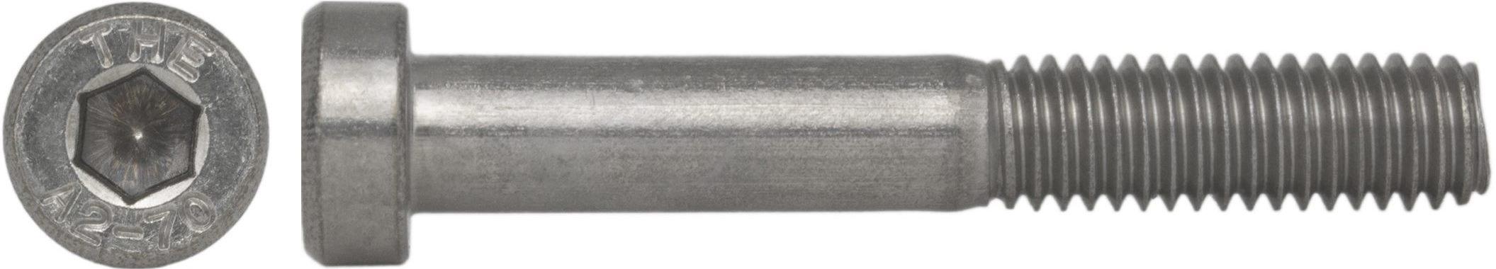 Zylinderschrauben niedrig M10 x 70 Edelstahl A2 DIN 6912 Innensechskant 10 Stk