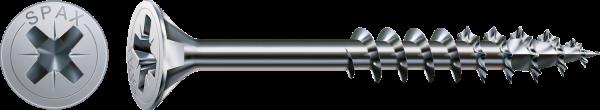 Spax Universalschraube, Teilgewinde, Senkkopf, Kreuzschlitz Z, WIROX