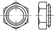 Sechskant Setzmutter / Einpressmutter Stahl verzinkt
