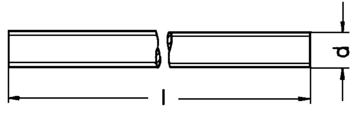 M40 Gewindestange Feingewinde DIN 976 Stahl blank M4 1 Meter Länge