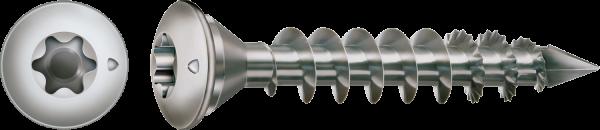Spax Pfostenschraube, 8x50 mm, Edelstahl A1, Zentrierkopf, Vollgewinde, T-STAR plus, CUT-Spitze
