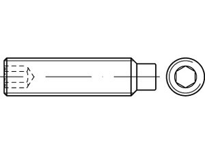 DIN 915/ISO 4028 Gewindestift mit Innensechskant und Zapfen Edelstahl A2