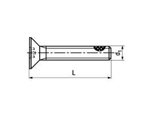 ISO 14581 Senkschraube, TufLok® Fleck beschichtet, Innensechsrund, Stahl 8.8 verzinkt
