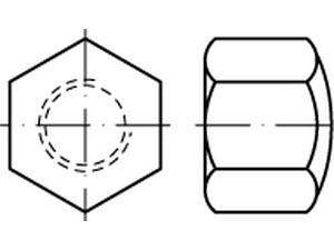DIN 917 Sechskant-Hutmutter niedrige Form Messing
