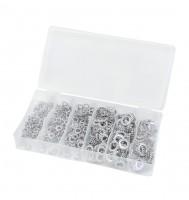 Fächerscheiben-Sortiment, 480 tlg., M4-M12, Stahl, vz, BOX-FA480