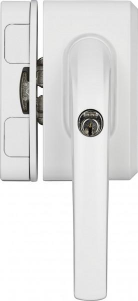 Abus FO500N Fenstergriff Schloss AL 0125 Weiß und Braun mit Sperrbügel